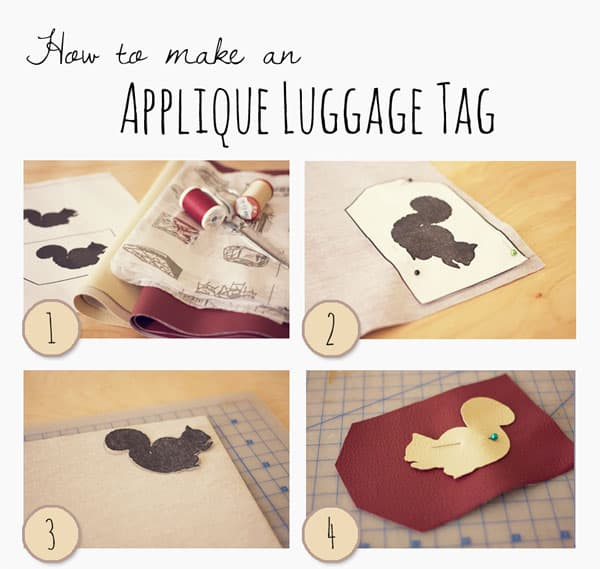 diy luggage tag squirrel walrus squirrel walrus diy luggage